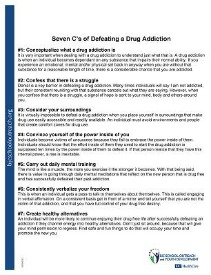 Worksheet Addiction Worksheets printable worksheets seven cs of defeating a drug addiction