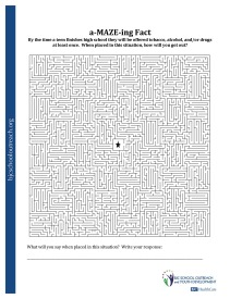 Printables Alcohol Abuse Worksheets printable worksheets a maze ing facts